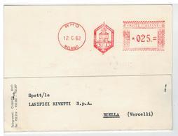 Cartolina Commerciale Società Chimica Lombarda A. E. Bianchi & C. Rho - Rho