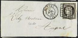 E1bis-N°3  Rennes Ile Et Vilaine TTB Devant De Lettre - Marcophilie (Lettres)