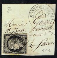 E1bis-N°3  C14 Montigny-le-Roy Haute Marne Indice 18  Timbre Margé - Marcophilie (Lettres)