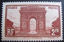 R1692/189 - 1929 - ARC DE TRIOMPHE DE L'ETOILE à PARIS - N°258 NEUF** - Cote : 95,00 € - France