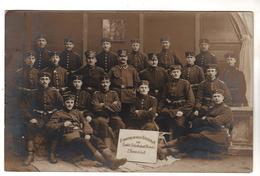 + 1742,  FOTO-AK, WK I, Feldpost, Rekrutendepot Plauen Im Vogtland, Crimmitschau - Guerre 1914-18