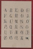 NL.- Het Abc. Alfabet - Kaart Zonder Envelop. - Postkaarten