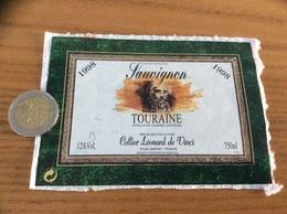 Etiquette De Vin « TOURAINE Sauvignon - Cellier Léonard De Vinci - LIMERAY (37)» 1998 - Vino Tinto