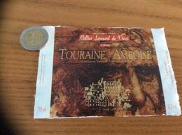 Etiquette De Vin ** « TOURAINE AMBOISE - Cellier Léonard De Vinci - LIMERAY (37)» 1996 - Vino Tinto