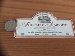 Etiquette De Vin « TOURAINE AMBOISE - Cuvée François 1er - Cellier Léonard De Vinci - LIMERAY (37)» 1997 - Vino Tinto