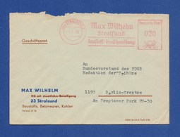 DDR AFS Firmenbrief - STRALSUND, Max Wilhelm 1969 - DDR