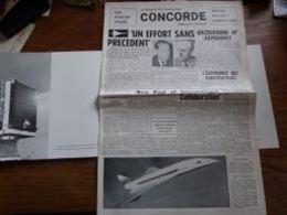 Top Journal Présentation Avion Concorde , Production Usine Technologie (ds Farde Cartonnée) - Aviation