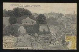 Luxemburgo. *Partie Du Grund Et Ville Haute* Ed. P. C. Schoren Nº 4831. Circulada 1909. - Luxemburgo - Ciudad