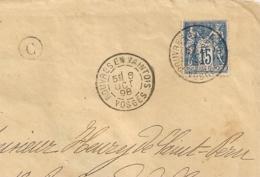 C = CHEF HAUT Vosges, ROUVRES EN XAINTOIS Sur Enveloppe SAGE. 1898. - 1876-1898 Sage (Type II)