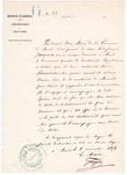 13 / AURIOL / TRES JOLIE LETTRE MANUSCRITE DU MAIRE D AURIOL GUIGOU / DATEE DU 2 NOVEMBRE 1856 / EN TETE ET TAMPON MAIRI - Documents Historiques