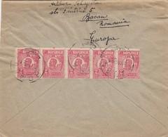 COVER ROMANIA TO USA - Timbres
