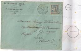 C = CHEF HAUT Vosges, ROUVRES EN XAINTOIS Sur Enveloppe SAGE. LE TRIMBROPHILE LORRAIN. - Storia Postale