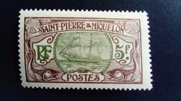 Saint  Pierre Et Miquelon SPM 1909 Bateau De Pêche Fishing Boat Yvert 93 * MH - St.Pierre & Miquelon