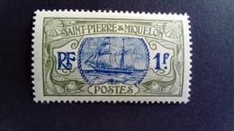Saint  Pierre Et Miquelon SPM 1909 Bateau De Pêche Fishing Boat Yvert 91 * MH - St.Pierre & Miquelon