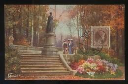 Luxemburgo. *Statue De La Princesse Amélie De Saxe-Weimar...* Ed. Primus. Matasellos De Favor 1927. - Luxemburgo - Ciudad