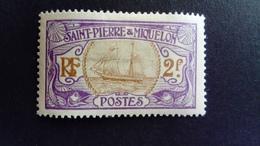 Saint  Pierre Et Miquelon SPM 1909 Bateau De Pêche Fishing Boat Yvert 92 * MH - St.Pierre & Miquelon
