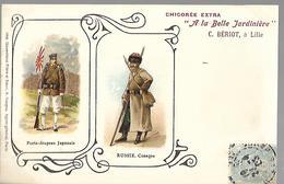 """Chicorée Extra  """" A La Belle Jardinière """"  .Japonais & Russie. - Pubblicitari"""