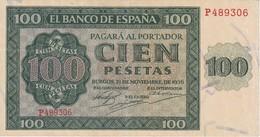 BILLETE DE ESPAÑA DE 100 PTAS 20/05/1936 SERIE P EN CALIDAD EBC (BANK NOTE) - [ 3] 1936-1975 : Régimen De Franco