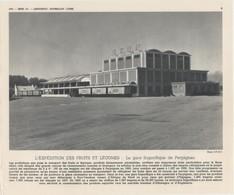 Gravure 20 X 24  - La Gare Frigorifique De Perpignan - Unclassified