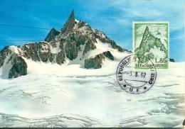 "CM-Carte Maximum Card # 1962-San Marino # Geologie # Nature # Montagne,Gebirge,mountains ""Dente Del Gigante "" Courmayeur - Sin Clasificación"