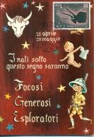 CM-Carte Maximum Card # 1970-San Marino # Signes De Zodiac,Tierkreiszeichen, Sign Ot The Zodiac # Stier,Taureau,Taurus - Saint-Marin