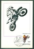 CM-Carte Maximum Card # 1984-San  Marino #  Sport # Motocross WM -Campionato Mondiale Di  Motocross - Unclassified