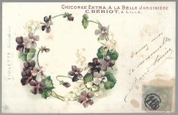 """Chicorée Extra  """" A La Belle Jardinière """"  .VIOLETTE. - Publicité"""