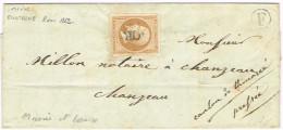 E2- N°13A Oblit OR Cornu De Martigné Maine Et Loire - Marcophilie (Lettres)