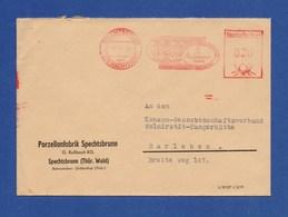 DDR AFS Firmenbrief - SPECHTSBRUNN über STEINACH, Roco Glaswarenfabrik, Porzelanfabrik 1958 - DDR
