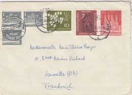 COVER GERMANY 1961 BAD HOMBURG TO FRANCE - Timbres