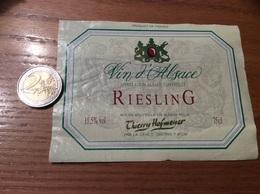 Etiquette De Vin «RIESLING - Thierry Hofmeyer - CAVE D'OBERNAI (67) (ALSACE)» - Witte Wijn