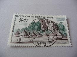 TIMBRE   COTE  D' IVOIRE   POSTE  AÉRIENNE    N  24    COTE  5,10  EUROS  OBLITÉRÉ - Costa D'Avorio (1960-...)