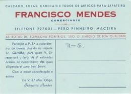 PORTUGAL - FRANCISCO MENDES - MACEIRA  - ADVERTISING - ABSORBENT PAPER - MATA BORRÃO - BLOTTER - BLOTTING PAPER - Shoes