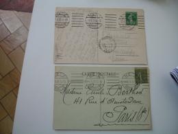 Metz 1921.1922 Cachet Allemand Flamme 6 Lignes Droites - Poststempel (Briefe)