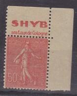 PUBLICITE SEMEUSE LIGNEE 50C ROUGE ACCP SHYB Eaux De Coliogne HAUT 490   C7 - Advertising