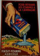 """Publicité  Cartonnée """"FIKSIT FOURMI AGRICOLE"""" - Plaques En Carton"""