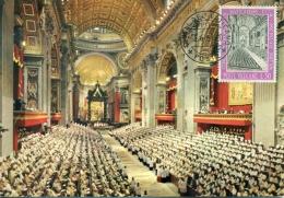 CM-Carte Maximum Card # 1962-Vatican # Religion #Concilio Ecumenico Vaticano II # Oecumenical Council  In Peter´s  - Maximumkaarten