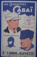 """Publicité Cartonnée """"CASQUETTES CABAI"""" - Plaques En Carton"""