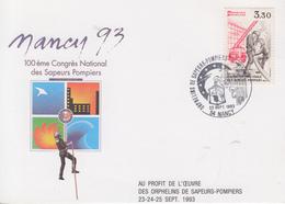 Carte  Maximum  FRANCE  100éme  Congrés   Des   SAPEURS - POMPIERS   NANCY   1993 - Sapeurs-Pompiers