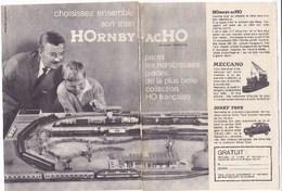 Pub.1961  Hornby-Acho Train électrique Meccano Dinky Toys  Meccano 2 Pages TBE - Publicités