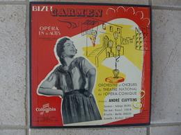 Coffret De 3 Disques 33 T 1951 Bizet CARMEN Opéra 4 Actes André Cluyens Colombia - Opera