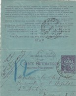 FRANCE CARTE PNEUMATIQUE. TELEGRAPHE 60c - Timbres