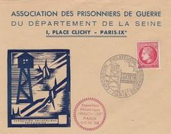 FRANCE ENVELOPPE  EXPOSITION PHILATELIQUE PRISONNIERS PARIS 1946 - Timbres