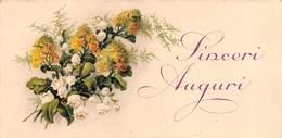 """0566 """"SINCERI AUGURI - MAZZO DI FIORI"""" BIGLIETTO AUGURALE ORIGINALE 1990 - Seasons & Holidays"""