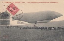 """FRANCE.  LE DIRIGEABLE """"PATRIE"""".  VERDUN. FMN° 4 POUR PARIS - Timbres"""