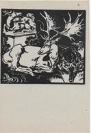 AK 0064  Hirsch - Nach Einem Linolschnitt Von Prof. N. V. Bresslern-Roth Um 1940-50 - Scherenschnitt - Silhouette