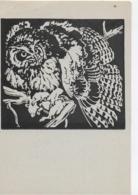 AK 0064  Uhu - Nach Einem Linolschnitt Von Prof. N. V. Bresslern-Roth Um 1940-50 - Scherenschnitt - Silhouette