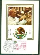 CM-Carte Maximum Card # 1980 -Vatican # #  Papstreise ,World Pope Tour # Pope S.S Giovanni Paolo II # Mexico ,Messico - Maximumkaarten
