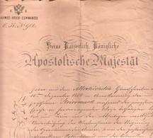 2991     SLOVENIJA   CELJE   K.U.K  ARMEE-OBER -COMMANDO  WIEN 1866  Apostolische Majestät - Documents
