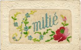 ~  JP  ~    CARTE   BRODEE   ~       AMITIE   ~ - Bestickt